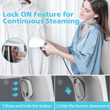 Portable Garment Steamer Handheld Clothes Iron Steamer for Home and Travel