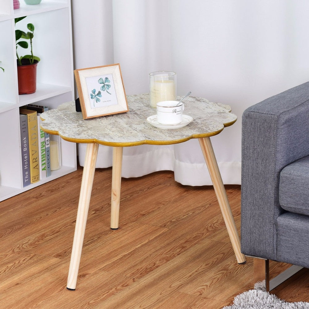 Giantex Flower Shaped Coffee Table Sofa Side End Accent Table Living ...