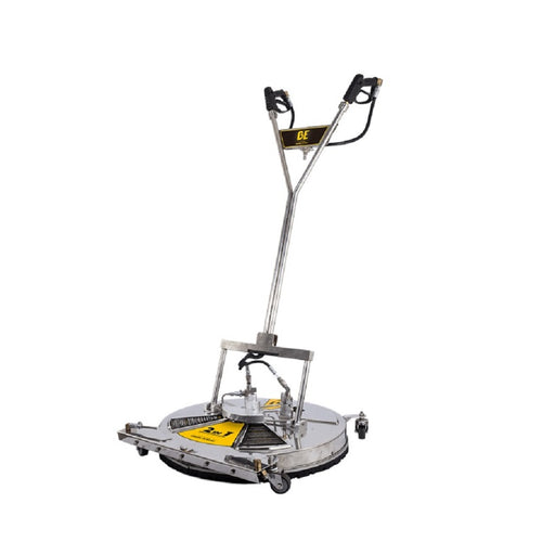 BE 30 Inch Commercial Stainless Steel Flat Surface Concrete Cleaner with Water Broom 5000psi Minimum 5.5gpm