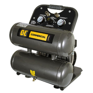 BE AC104 Quiet Oil Free Air Compressor 4 Gallon Portable Electric Oil Free