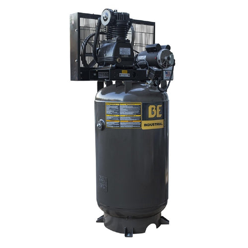 BE AC5080B Belt Drive Air Compressor 80 Gallon Two Stage Stationary Electric 240 Volt 30 Amp