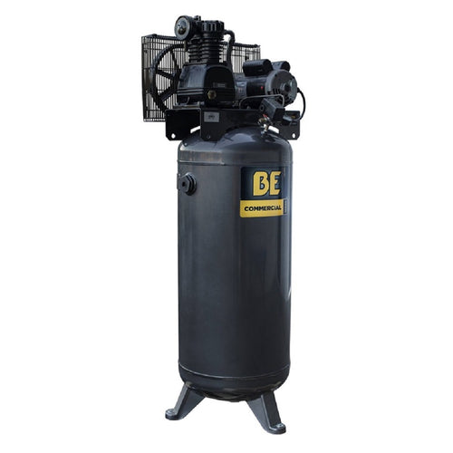 BE AC5161B Belt Drive Air Compressor 60 Gallon Single Stage Stationary Electric 240 Volt