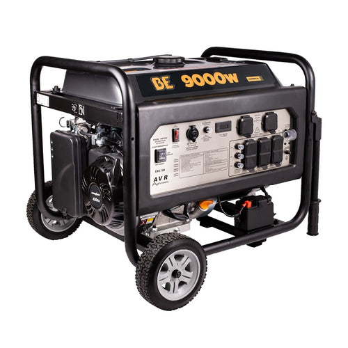 BE BE-9000ER 9000 Watt Commercial Generator 7 Hour Runtime at Full Load Electric Start