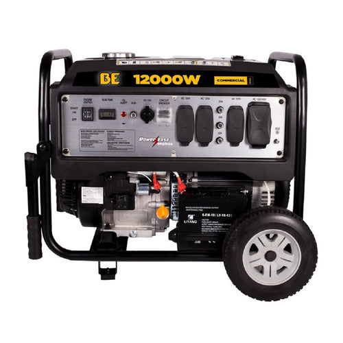 BE BE12000ES 12,000 Watt Commercial Generator 8 Hour Runtime at Full Load Electric Start