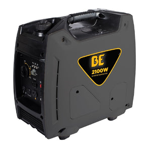 BE BE2100i 2100 Watt Quiet Inverter Generator 7 Hour Runtime at 1/4 Load Pull Start