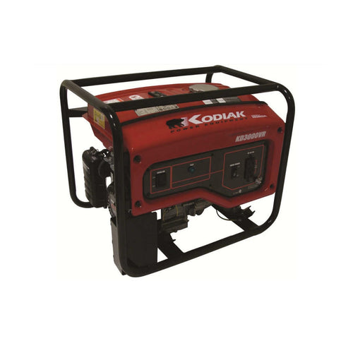 Kodiak KD3000VR 3000 Watt Honda Generator 12 Hour Runtime at 1/2 Load Pull Start