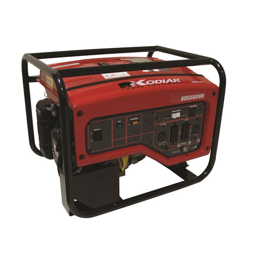 Kodiak KD5500VR 5500 Watt Honda Generator 8.5 Hour Runtime at 1/2 Load Pull Start