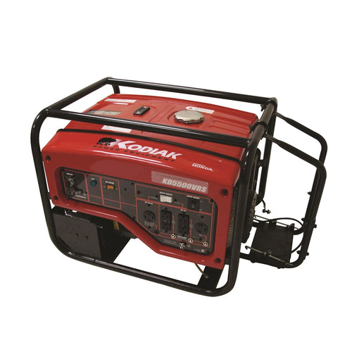 Kodiak KD5500VRS 5500 Watt Honda Generator 8.5 Hour Runtime at 1/2 Load Electric Start