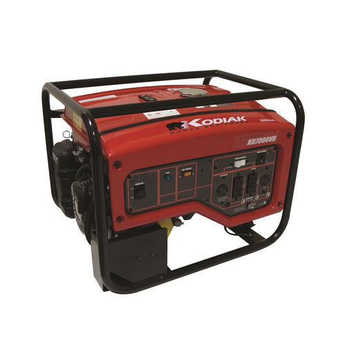 Kodiak KD7000VR 7000 Watt Honda Generator 7.6 Hour Runtime at 1/2 Load Pull Start
