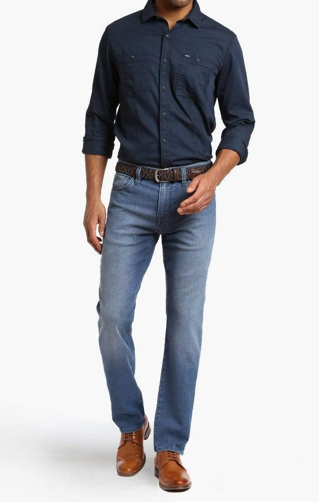 34 Heritage Denim Courage Straight Leg in Light Indigo Sporty