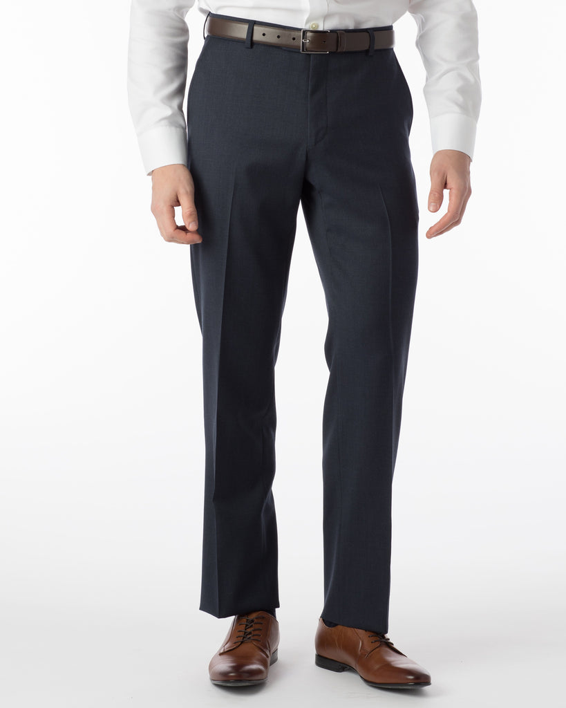 Ballin Dress Trousers Soho Super 120's Gaberdine- Navy Mix