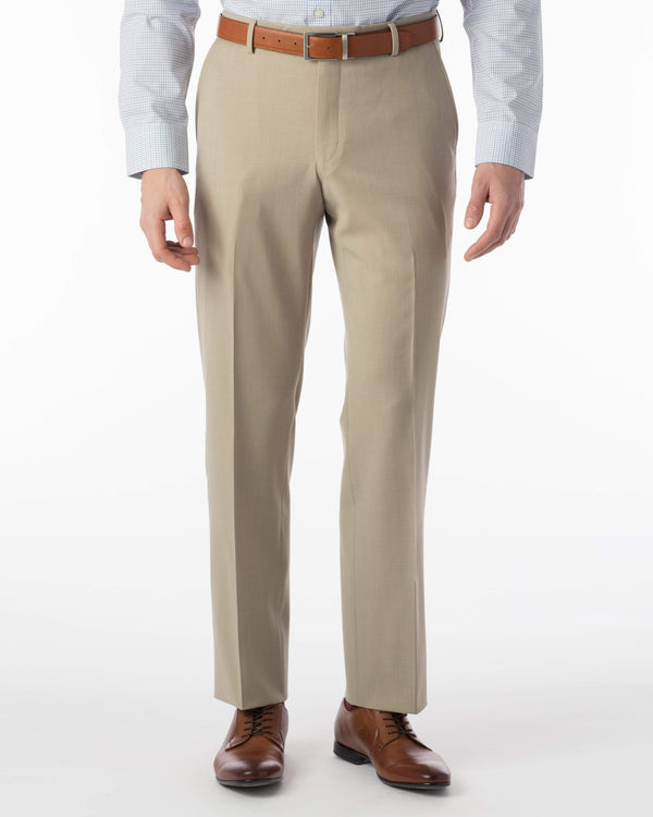Ballin Dress Trousers Soho Super 120's Gaberdine- Oatmeal