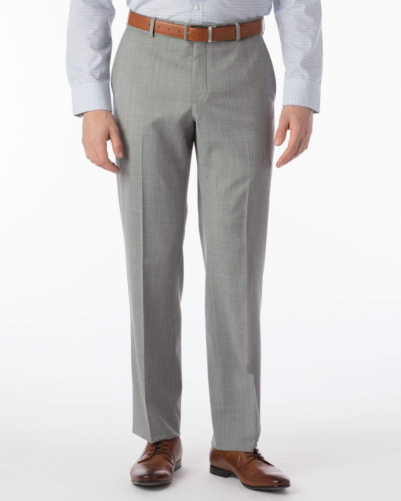Ballin Dress Trousers Soho Super 120's Gaberdine- Pearl Grey