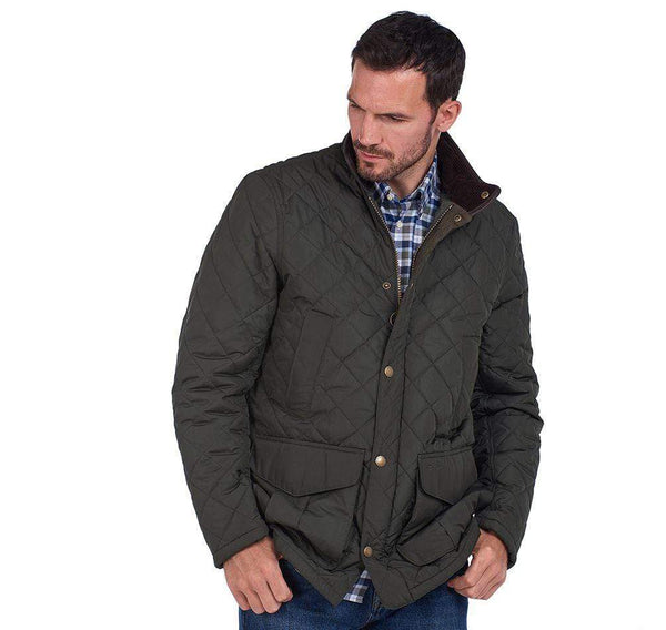 Barbour Outerwear Devon Quilted Jacket- Sage