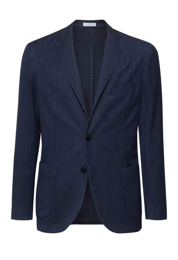 Boglioli Sport Coats Navy Blue high performance K-Jacket