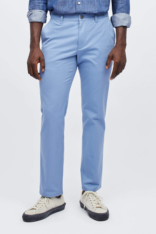 Bonobos Trousers Stretch Washed Slim Chino- Azure Slate