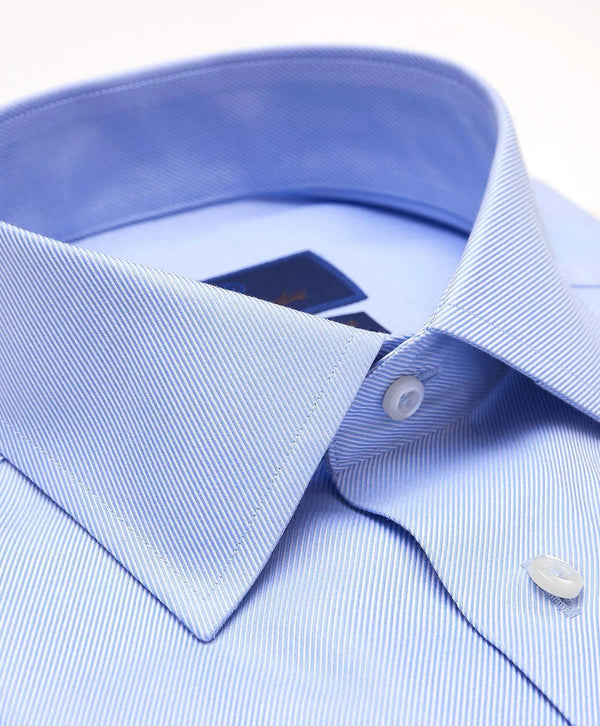 David Donahue Dress Shirts Sky Blue Non-Iron Dress Shirt- Trim Fit