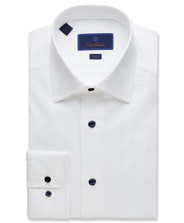 David Donahue Dress Shirts Super Fine Twill Dress Shirt