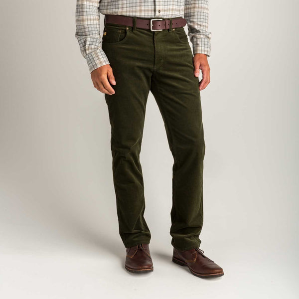 Duck Head 5-Pockets 1865 Five Pocket Corduroy- Forrest Green