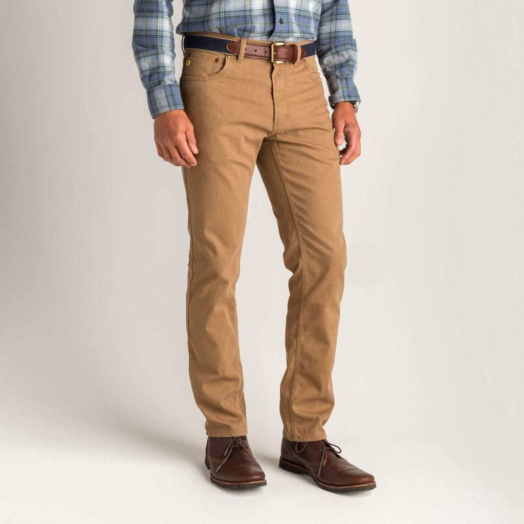 Duck Head Trousers 1865 Five-Pocket Field Canvas- Buckskin