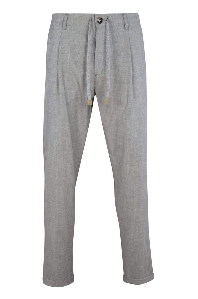 Eleventy Milano Dress Trousers Stretch Wool Jogger Dress Pants