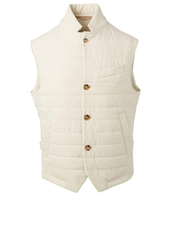 Eleventy Milano Outerwear Nylon Button Down Vest