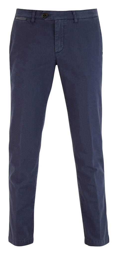 Eleventy Milano Trousers Cotton Flat Front Chino- Navy