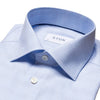Eton Dress Shirts Slim Fit Light Blue Price of Wales Plaid