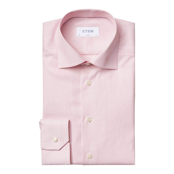 Eton Dress Shirts Slim Fit Red Melange Dress Shirt