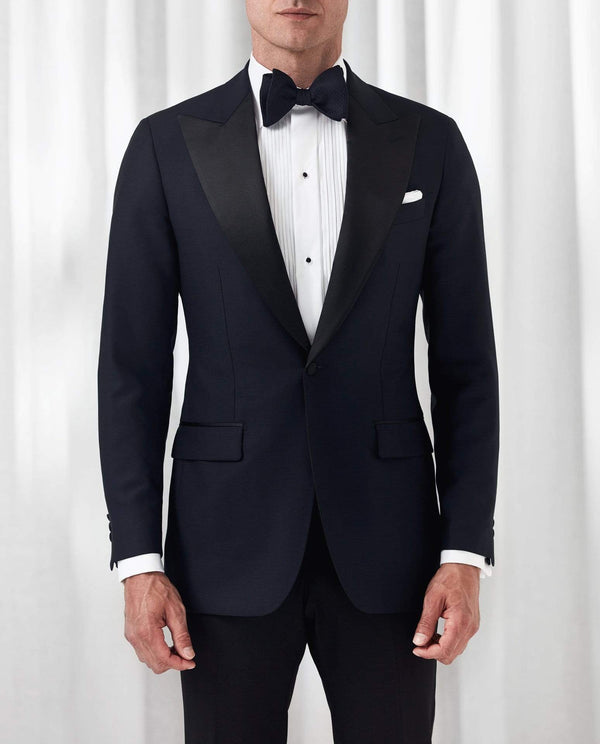 Eton Formal Wear Contemporary Fit Plissé Black Tie Shirt