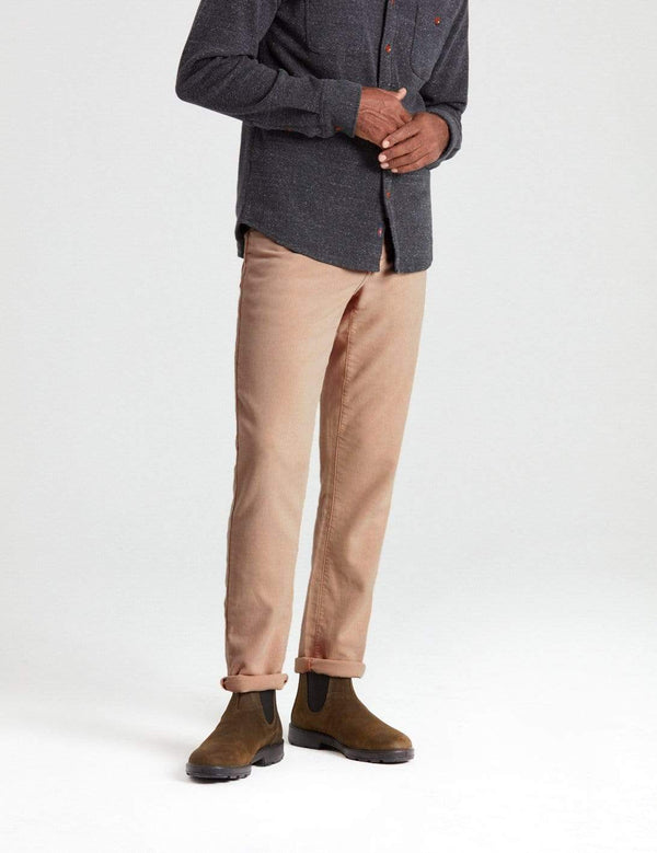 Faherty 5-Pockets Stretch Terry 5 Pocket- Khaki