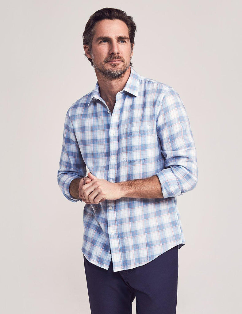 Faherty Sport Shirts Cloud Cotton Everyday Shirt- Windward Plaid