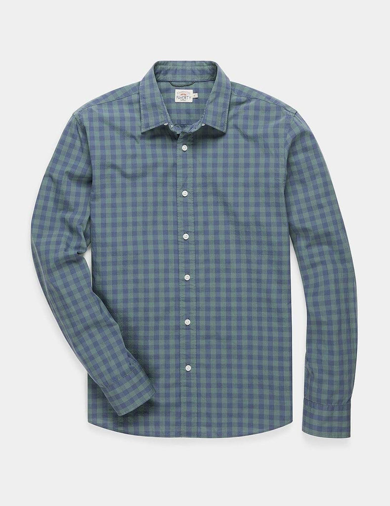 Faherty Sport Shirts Movement Shirt- Forest Gingham