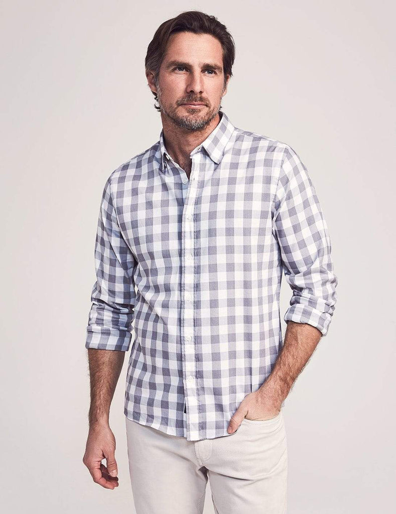 Faherty Sport Shirts Movement Shirt- Great White Check