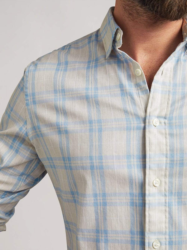 Faherty Sport Shirts The Movement Shirt- Sea Breeze Plaid