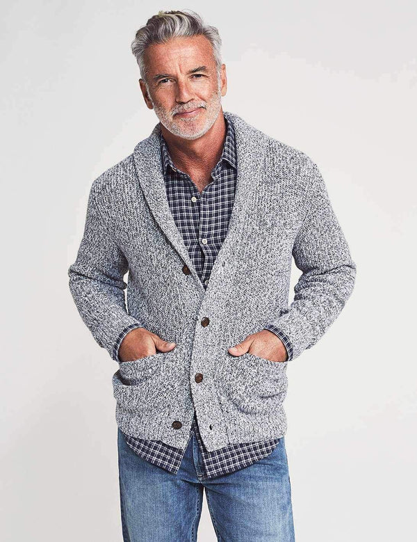 Faherty Sweaters Marled Cotton Cardigan