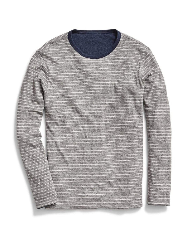 Faherty T-Shirts Luxe Heather Reversible Tee