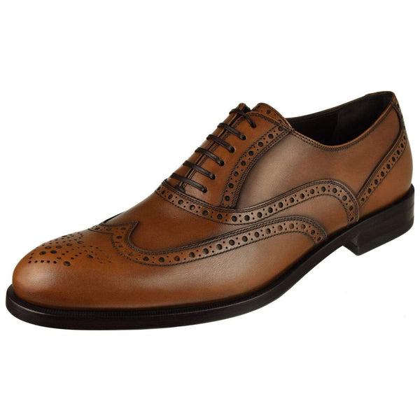 Ferragamo Shoes Ferragamo Gerard Wing Tip Oxford Gerard-Tan