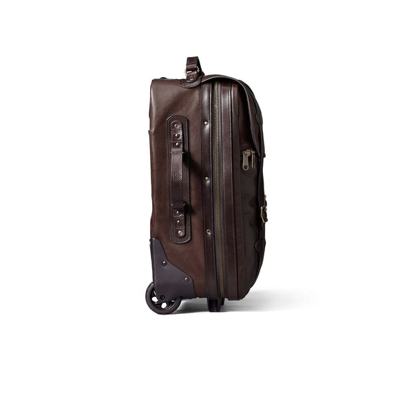 Filson Luggage Weatherproof Leather Rolling Carry-On Bag