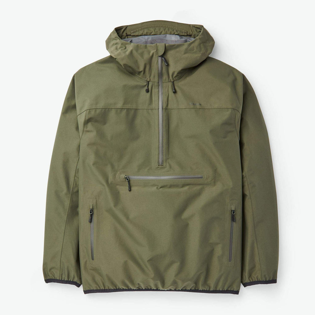 Filson Outerwear Swiftwater Rain Pullover- Dark Forest