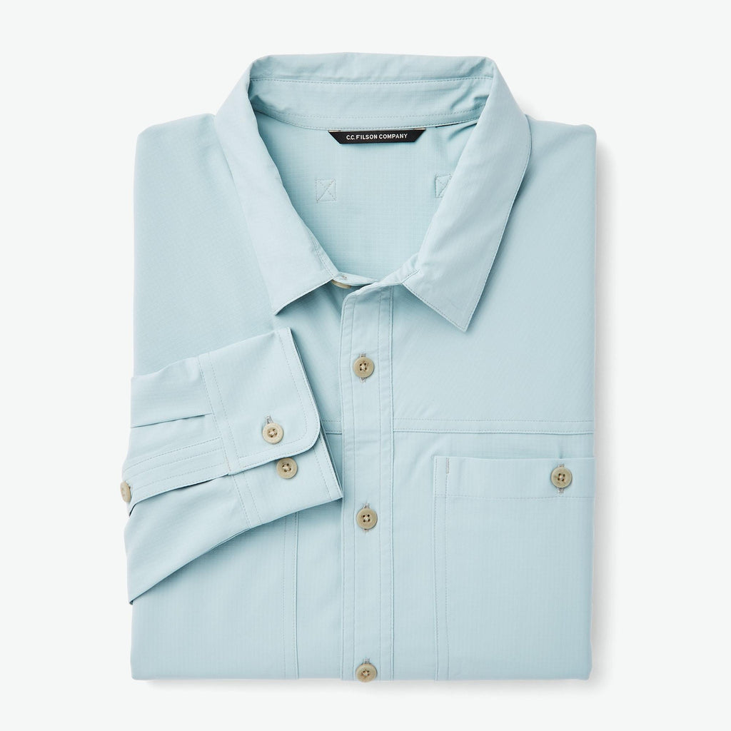 Filson Sport Shirts Ultralight Shirt- Gulf Blue