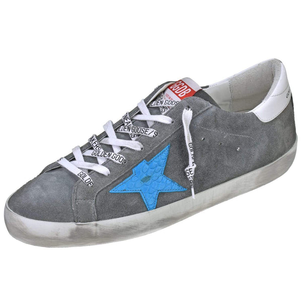 Golden Goose Shoes Men's Superstar Grey Suede Sneaker