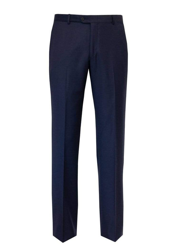 Hickey Freeman Dress Trousers Bright Blue Wool Flat Front Trousers
