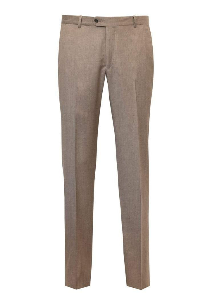 Hickey Freeman Dress Trousers Tan Wool Flat Front Trousers