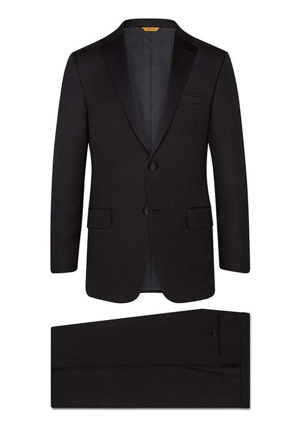 Hickey Freeman Formal Wear Black Notch Lapel Tasmanian Tuxedo