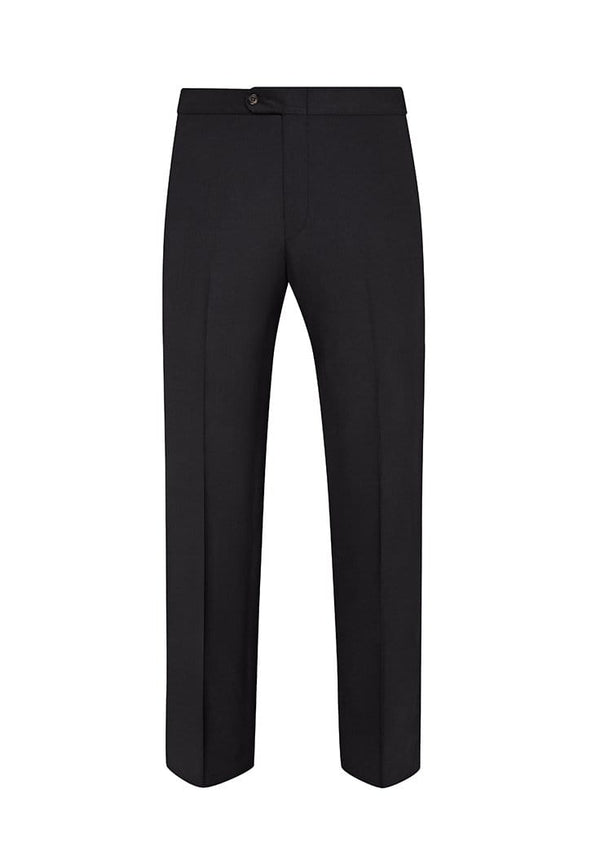 Hickey Freeman Formal Wear Black Tasmanian Formal Trousers- Grosgrain