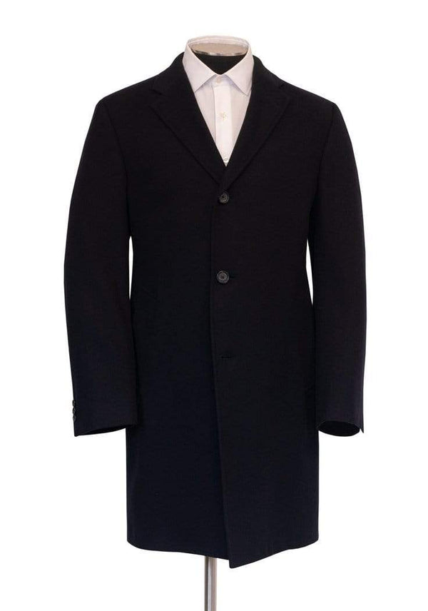 Hickey Freeman Outerwear Black Cashmere Overcoat