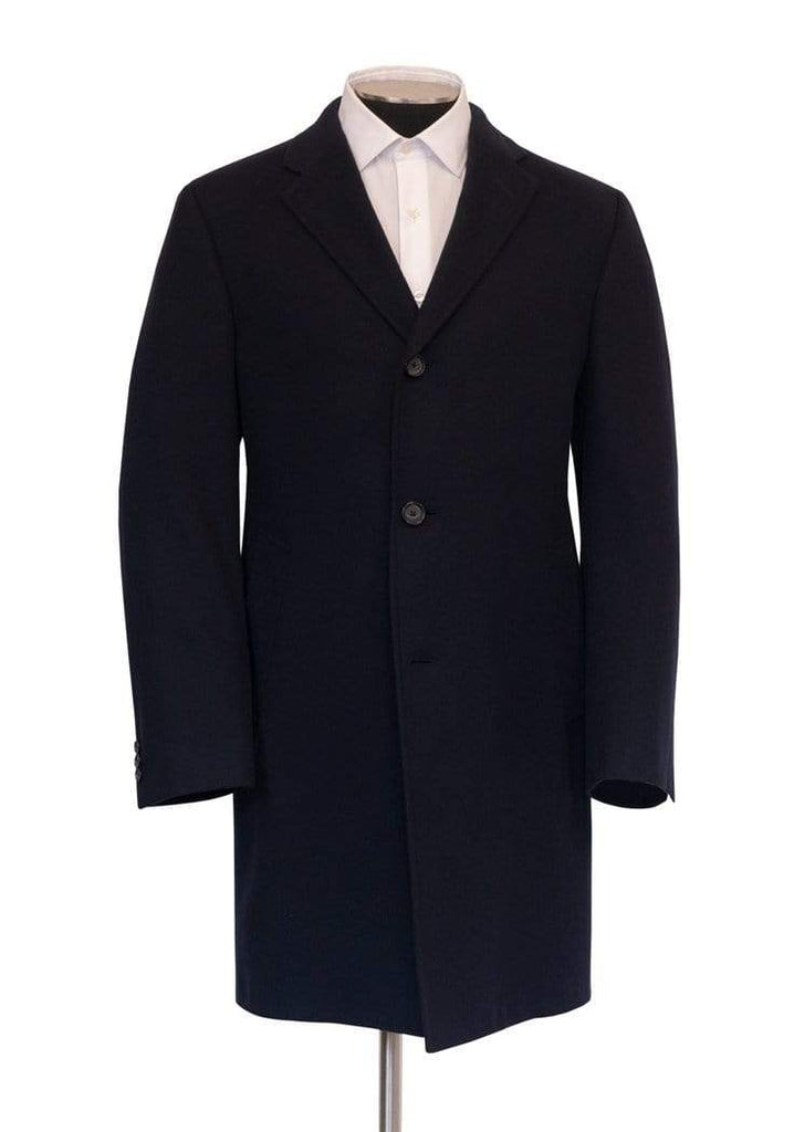 Hickey Freeman Outerwear Navy Cashmere Overcoat