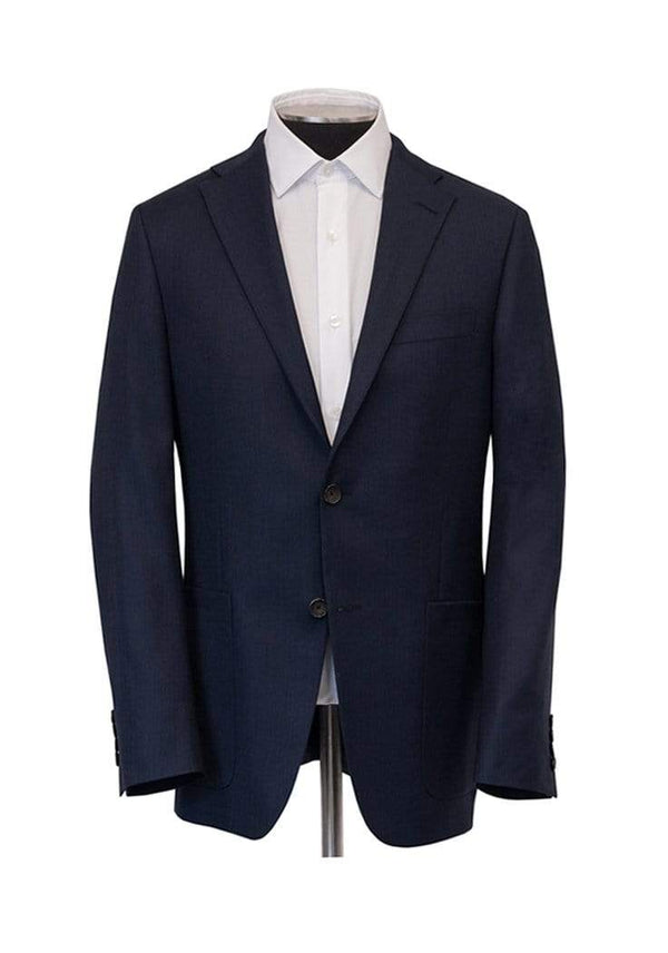 Hickey Freeman Sport Coats Navy Hopsack Traveler Jacket