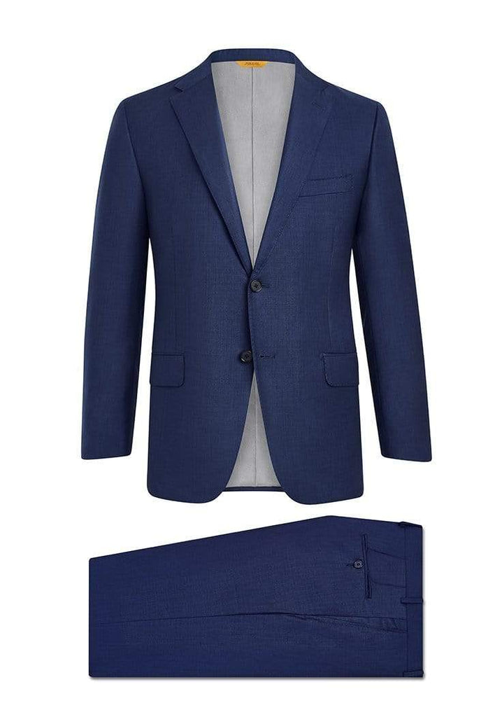 Hickey Freeman Suits Navy Sharkskin Tasmanian Suit